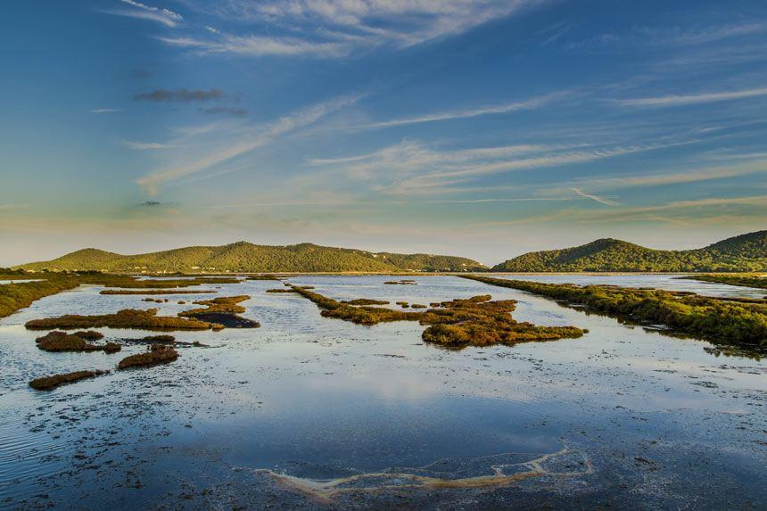 Beautifull landscape in Ses Salines Natural Park