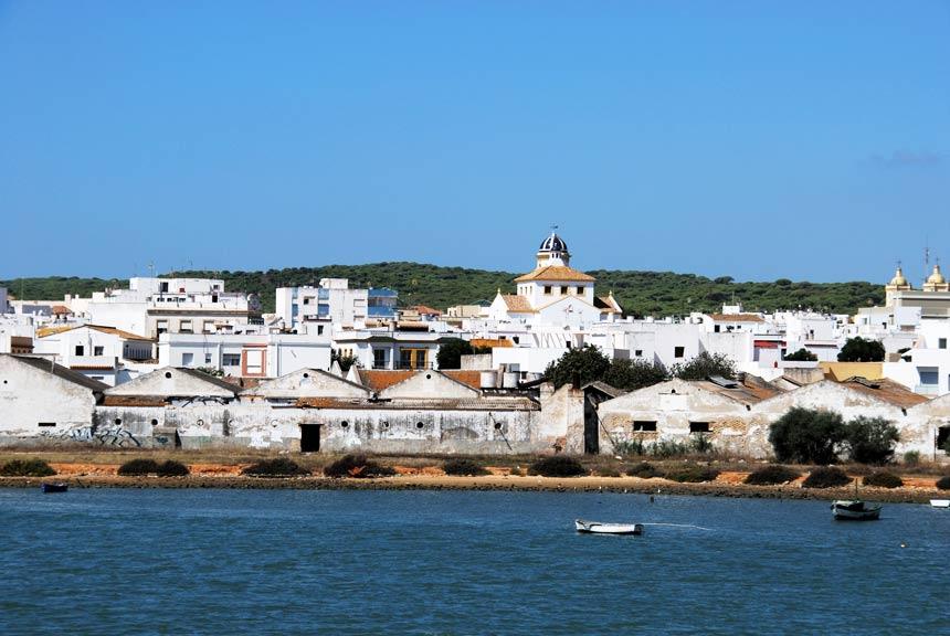vista panoramica de la ciudad de Barbate en la Costa de la Luz