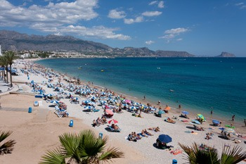 Albir beach panoramic view on summer
