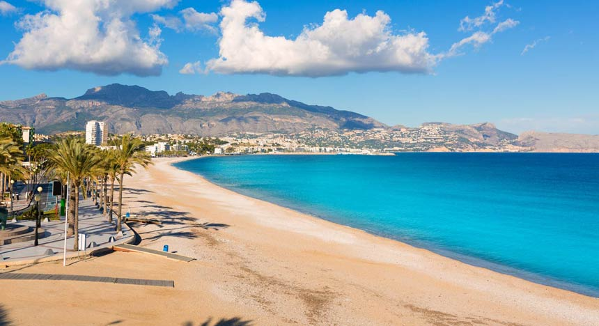 Albir beach panoramic view Altea