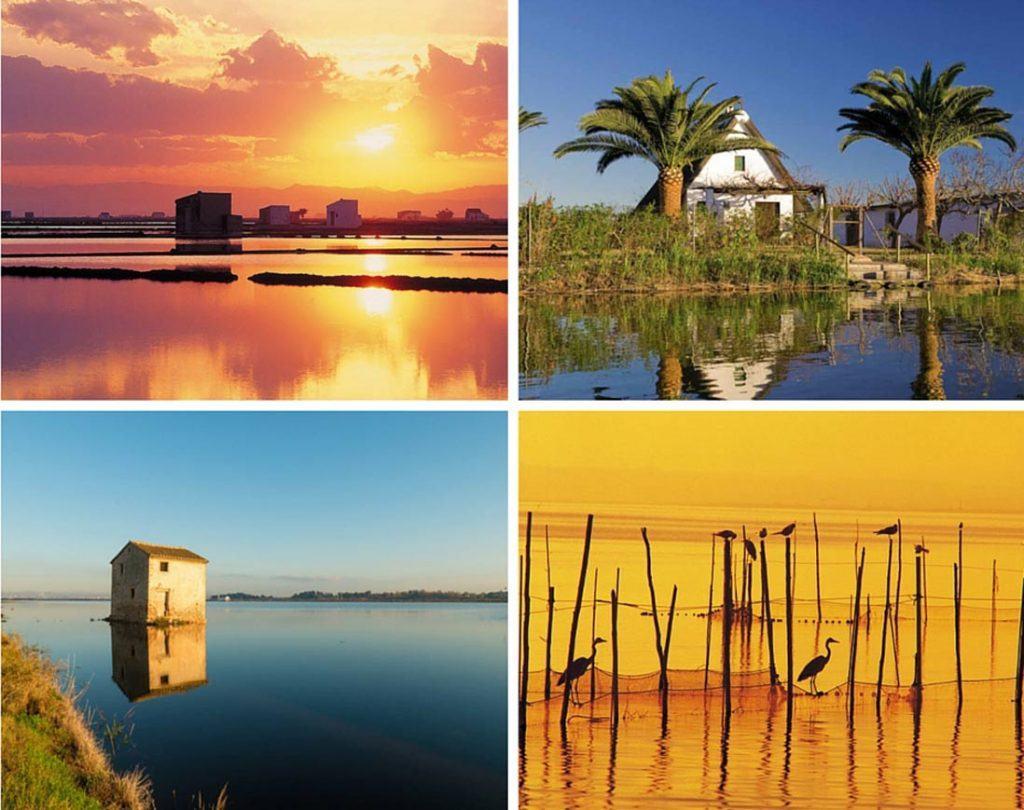 Albufera photo collage in Valencia