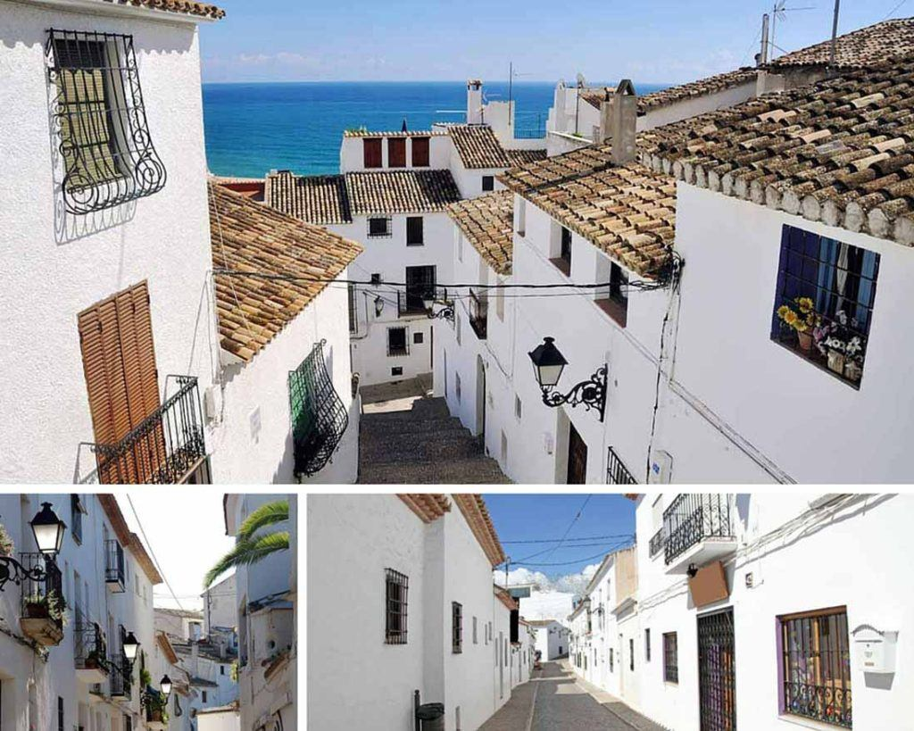 Altea old town photo collage