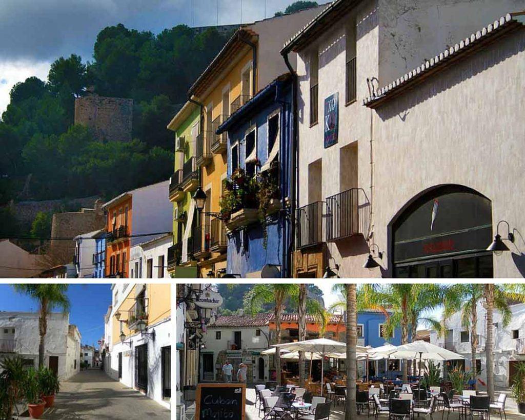 Port of Denia and Baix la Mar quarter photo collage