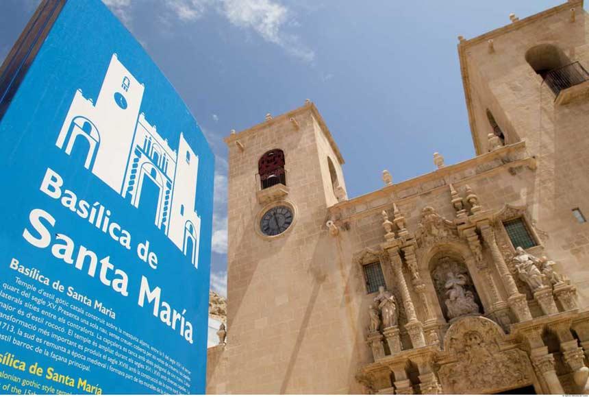 The Basilica of Santa Maria in Alicante