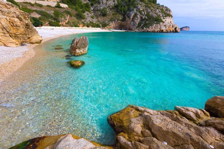 Cala Granadella clear water in Javea