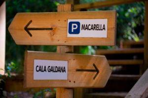 Sight to Cala Macarella