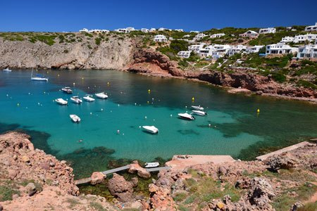 Cala Morella beach in Noth of Menorca (1)