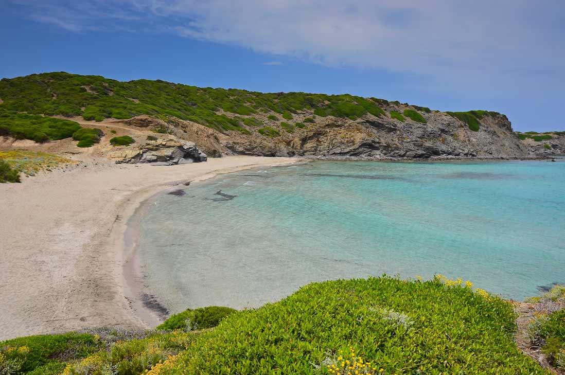 Cristaline water in Cala Presili in Menorca cala presil