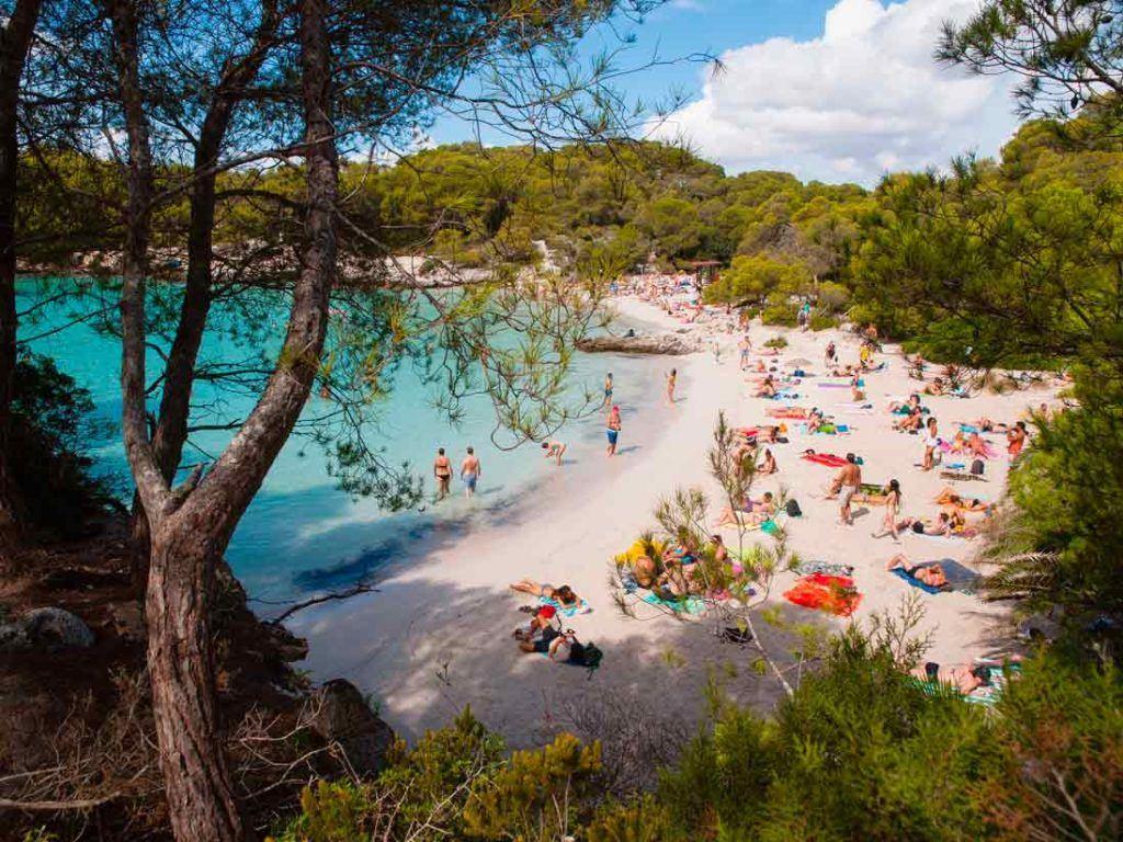 Cala turqueta southern beach of Menorca
