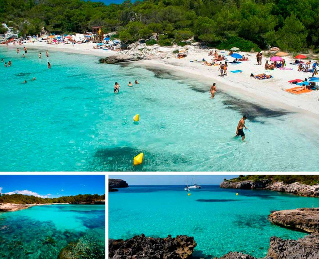 Cristal water and beaches of Menorca