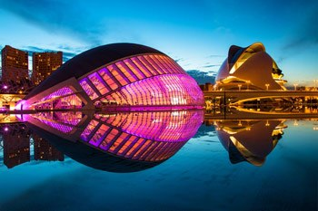 places to see in Valencia. City of Arts and Science of Valencia