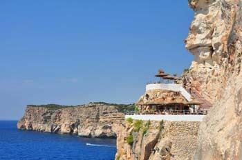 Espectacular cliffs in Cova den Xoroi, Menorca