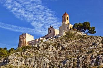 Cullera Castle on the top of a hill Sanctuary of Virgen del Castillo