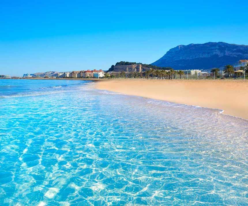 The essential tourist spots of Denia  Clear water in Denia beach