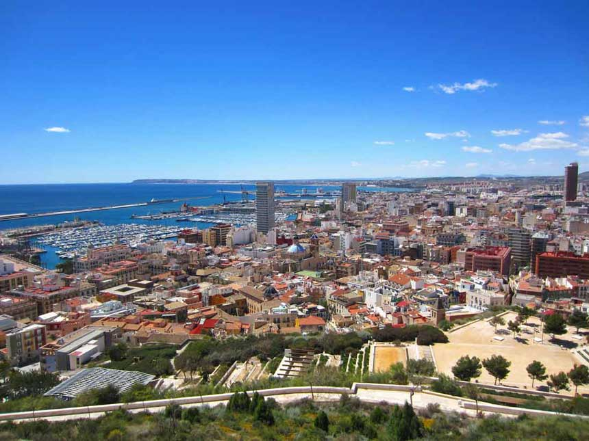 Panoramic view of Alicante city
