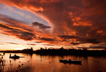 Best places to see in Cullera Estany de Cullera beautifull sunset