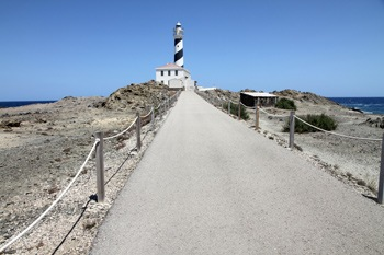 Lighthouse Favaritx in Mahon