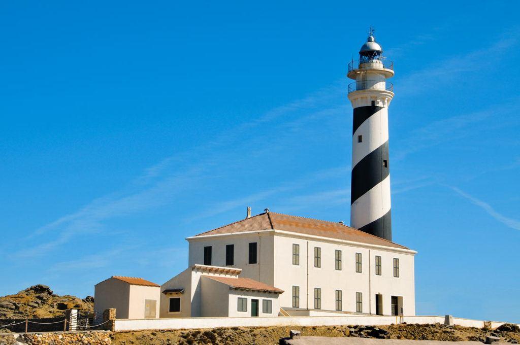 Lighthouse Favaritx in Mahon