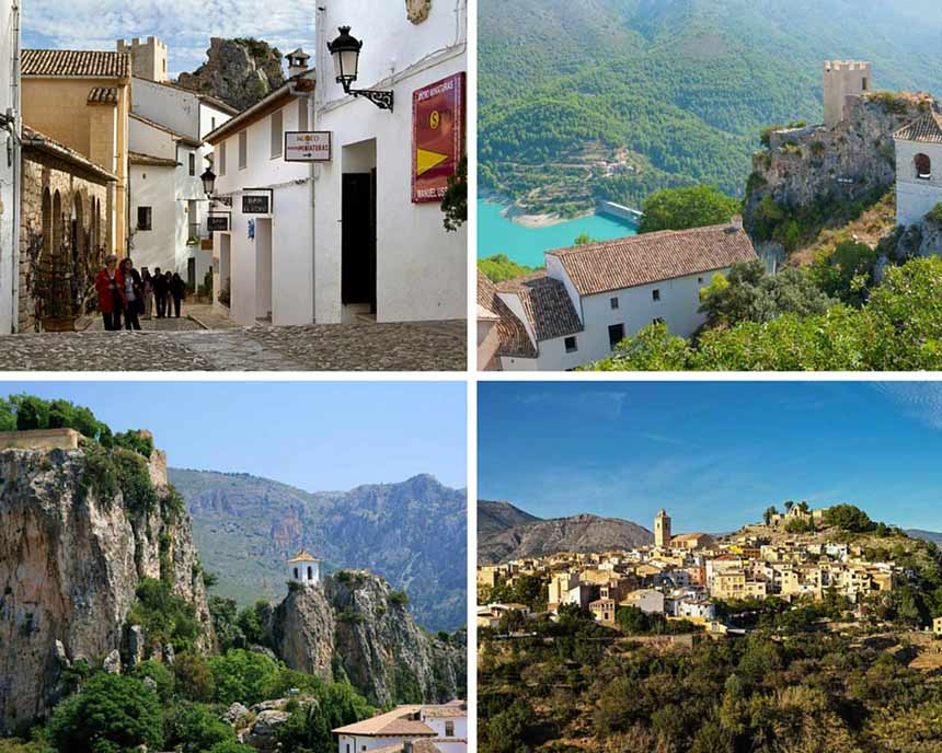 Costa Blanca Guadalest-Castle-Collage-pictures
