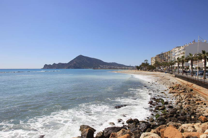 La Roda beach panoramic view in Altea