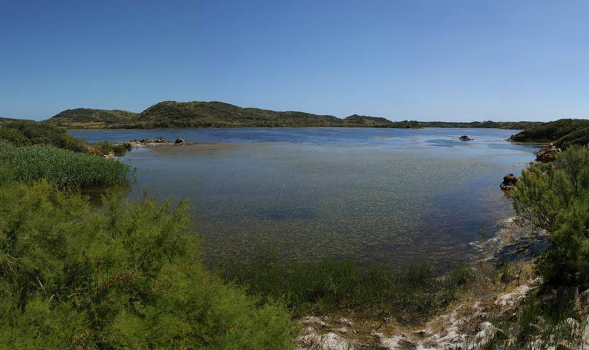 Lagoon-in-Albufera-des-Grau-in-Menorca