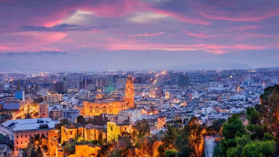 Malaga-city,-Malaga,-andalucia