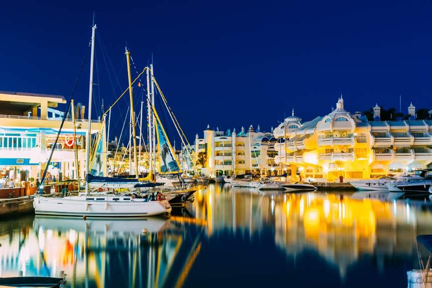 Marina-Benalmadena-at-night