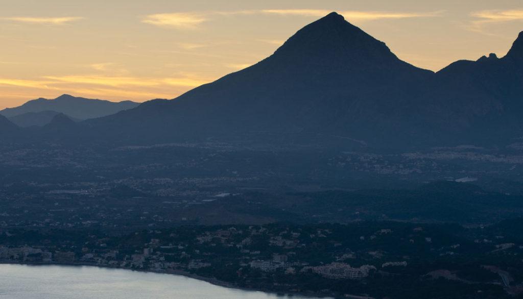 Monte Toix landscape in Calpe