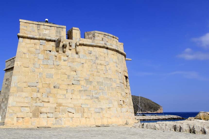 Old walls of Moraira Castle