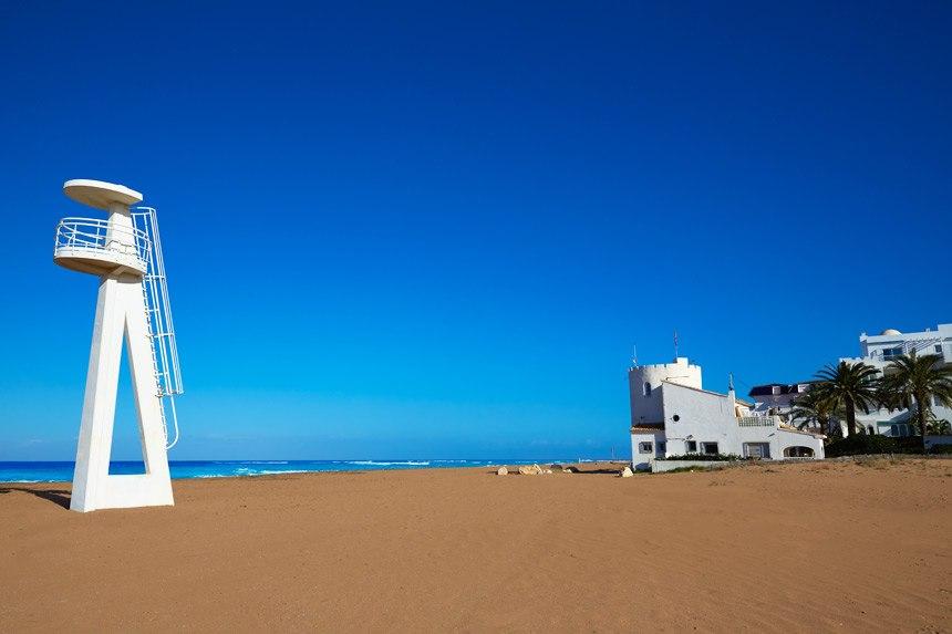 Beautifull Punta del Rasets beach in Denia