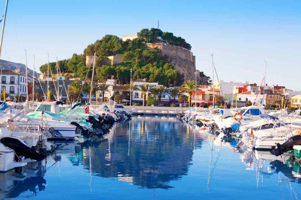 The essential tourist spots of Denia Port of Denia and Castle
