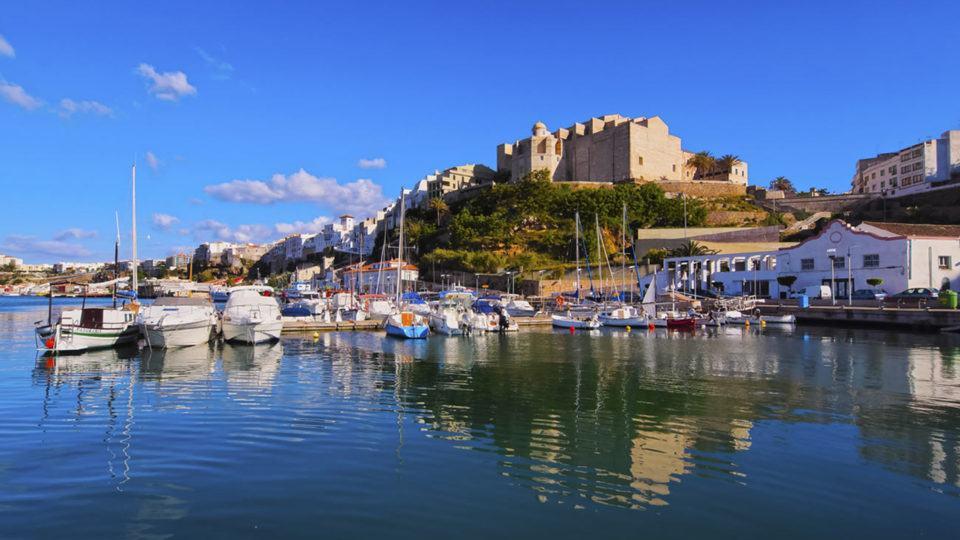 Port of Mahon in Menorca