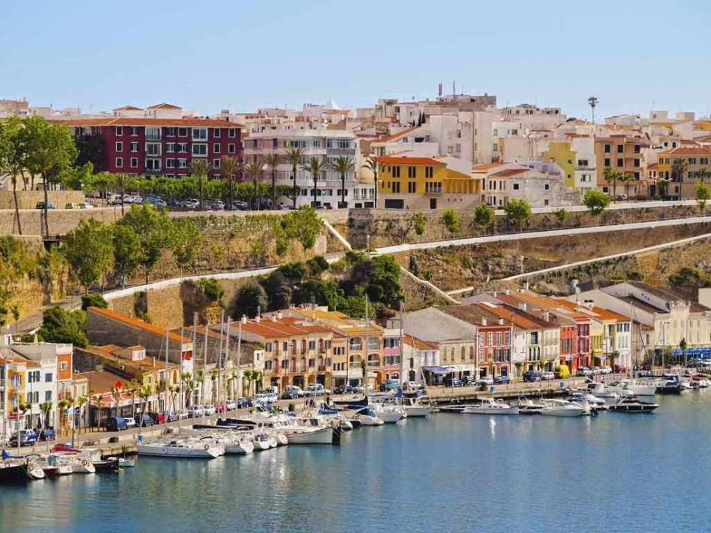 Port of Mahon in Menorca