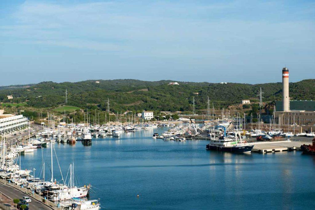 Port of Mahon in Menorca islas Balears