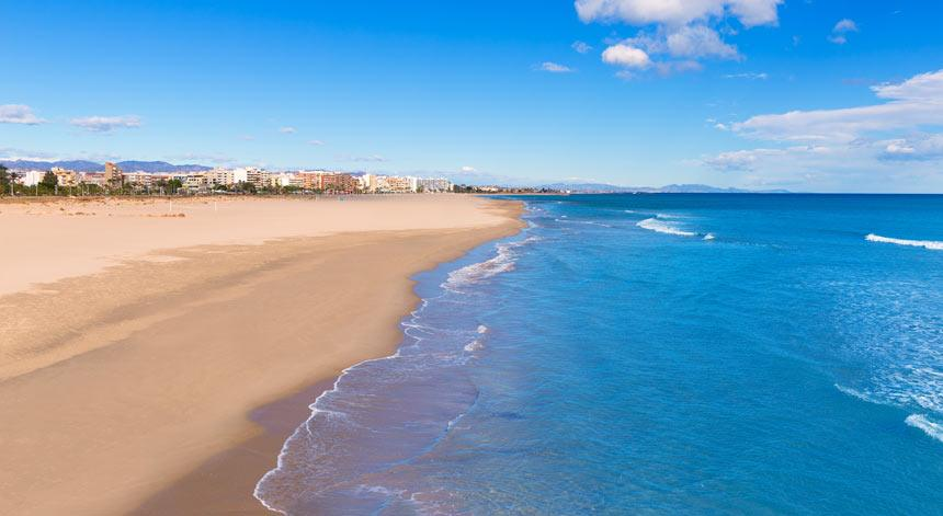Panoramic photo of Sagunto beach