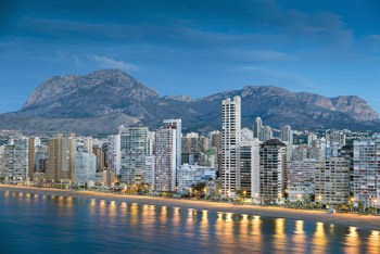 Top 10 highlights in Benidorm Skyline of Benidor at night