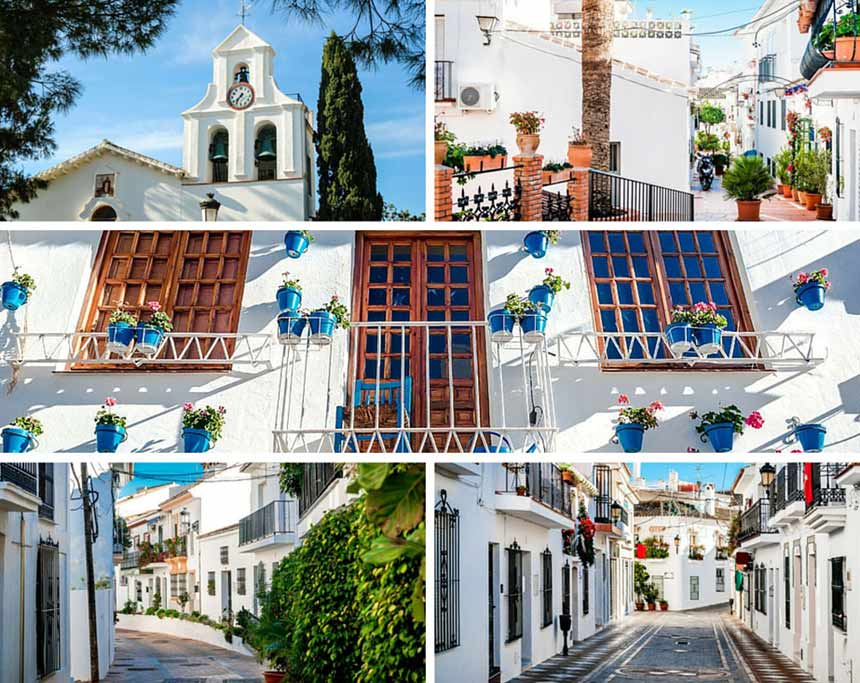 Photo collage Streets Benalmadena Old town, Costa del Sol