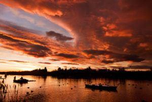 Sunset in Cullera Estany