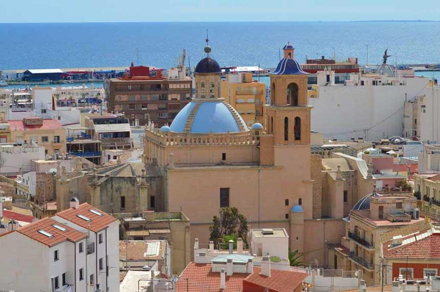 The basilica de Santa Maria in Alicante