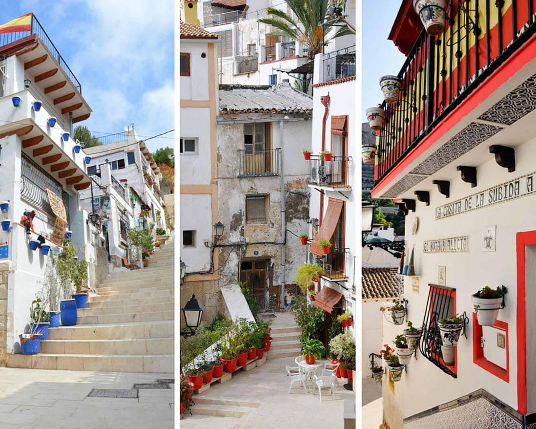 The Popular Calles-Barrio-de-Santa-Cruz-en-Alicante