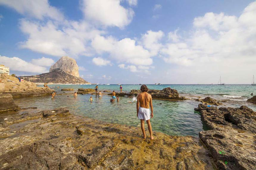 The-Roman-ruins-of-the-Queen's-Baths-in-Calpe