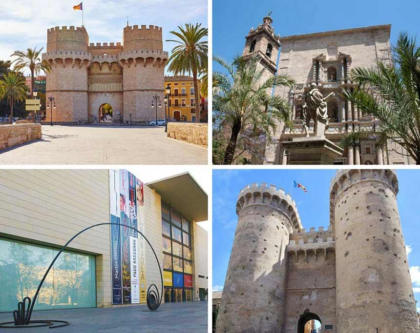 Photo Collage of The-barrio-del-Carmen-in-Valencia