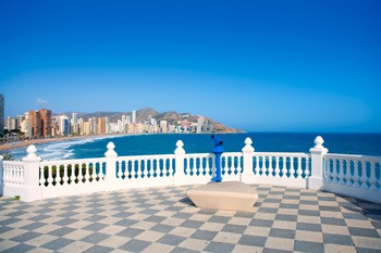 The The Castle Viewpoint or mediterranean balcony view point in Benidorm