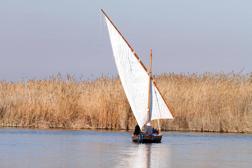 Traditional-boat-in-Natural-Park-Albufera-de-Valencia