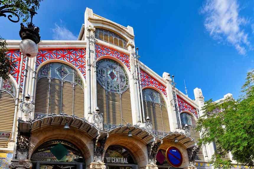 Valencia central Market Spectacular main façade