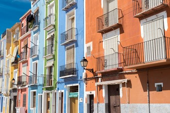 Highlights in Villajoyosa colorfull houses
