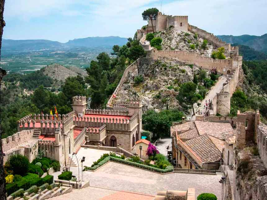 Beautifull picture of Xativa Castle in Costa Valenciana