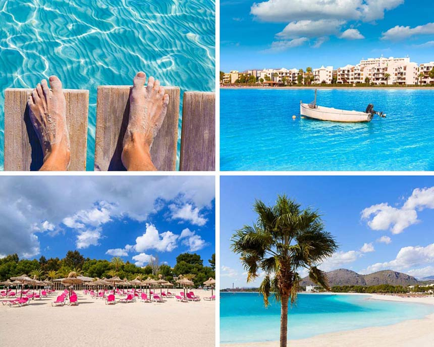 Alcudia beach photo collage
