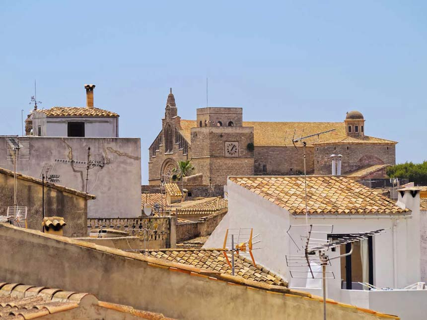 Aereal view from Alcudia old town