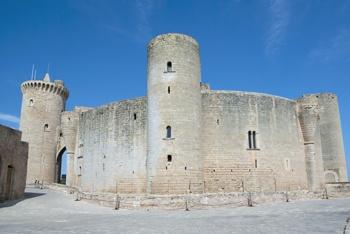 Bellver castle old walls